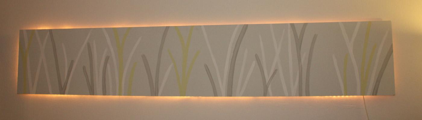 indirekte beleuchtung wandbild carprola for. Black Bedroom Furniture Sets. Home Design Ideas